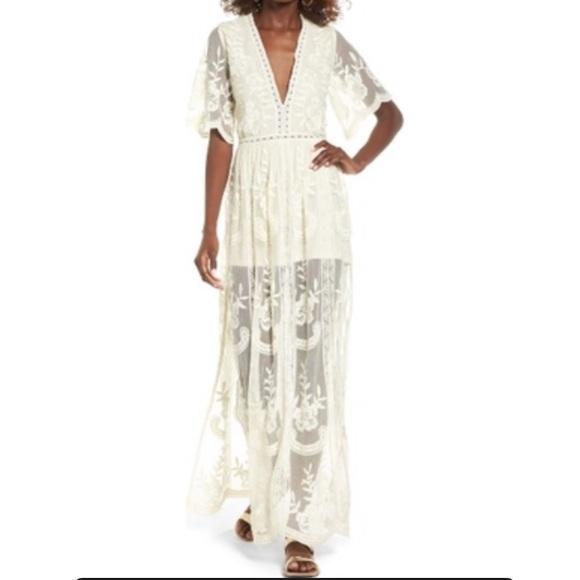 5b411db5f8b Socialite Lace Overlay Maxi Romper Dress